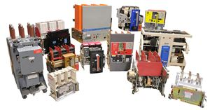 A series of circuit breakers available for rent.
